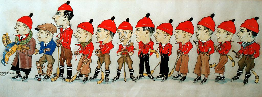Bandy SM-guld 1932 karikatyr ver 3