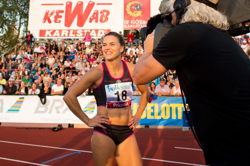 160727 under friidrottstävlingen Folksam Grand Prix den 27 juli i Karlstad Foto: Fredrik Karlsson / BILDBYRÅN / Cop 185